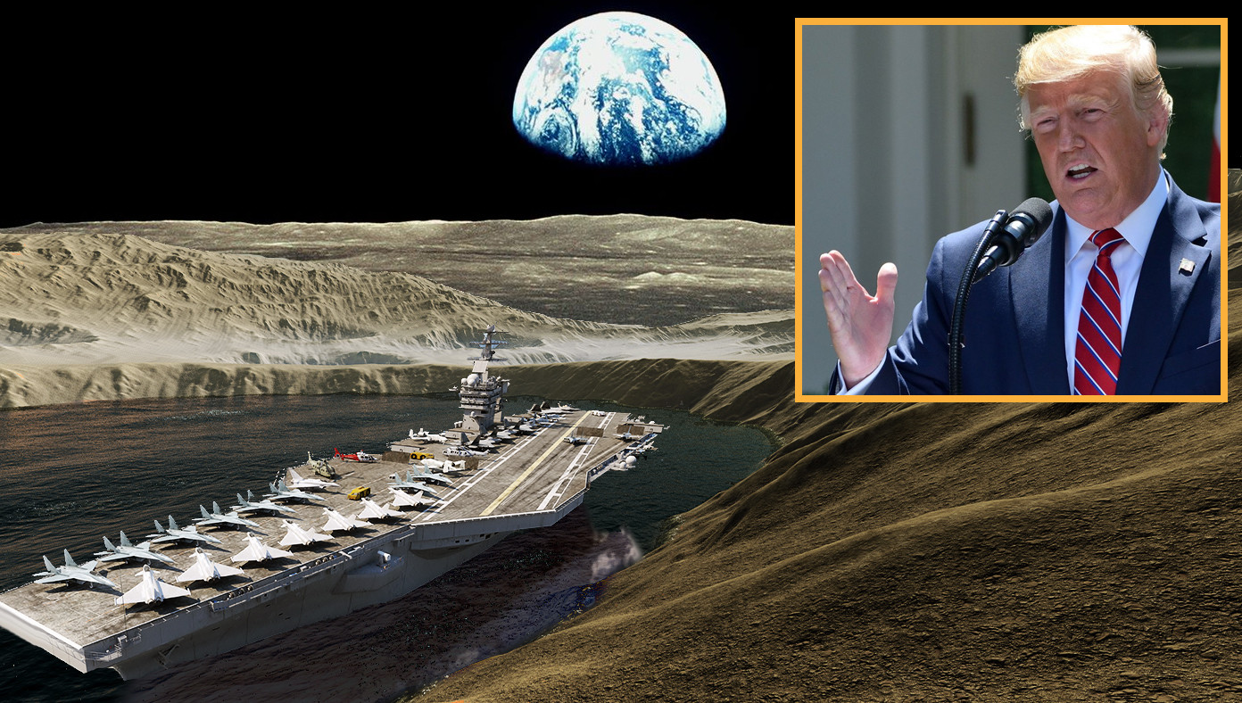 With Moon Water Announcement, Trump Proposes Space Navy