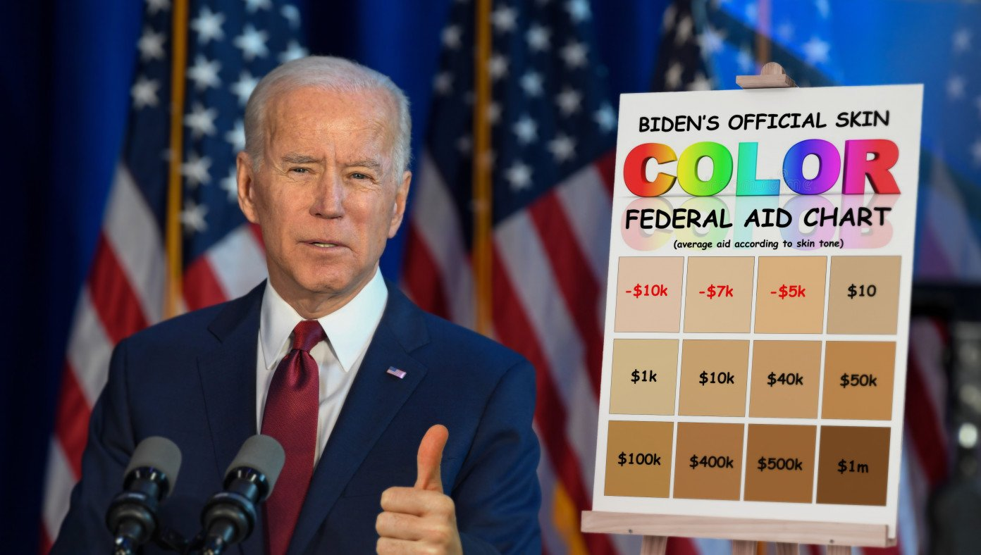 Biden Unveils Skin Color Chart To Determine Who Gets Federal Aid