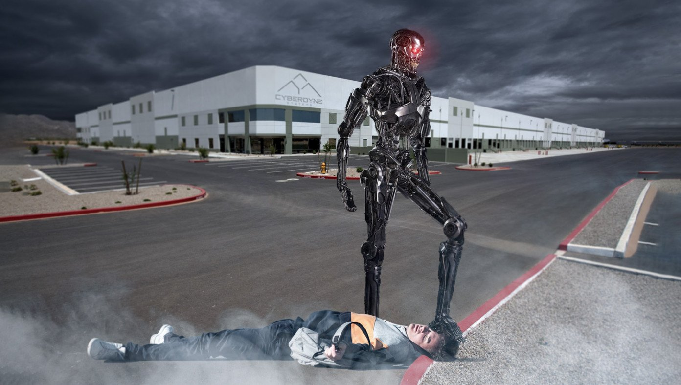 'Skynet Is A Private Company, They Can Do What They Want,' Says Man Getting Curb-Stomped By Terminator