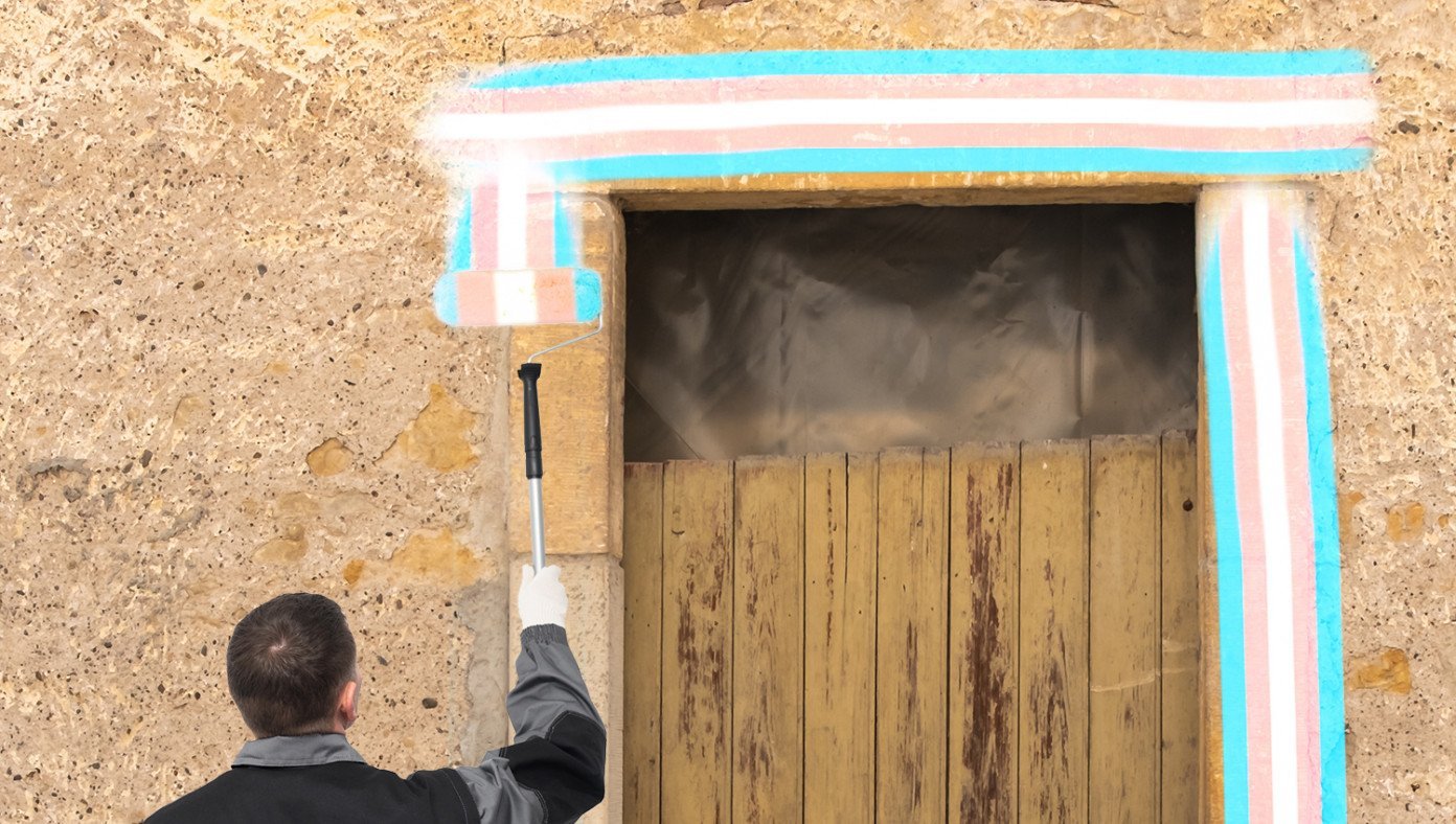 Middle Easterners Begin Painting Transgender Flag Colors On Doorposts To Avoid Biden Drone Strikes
