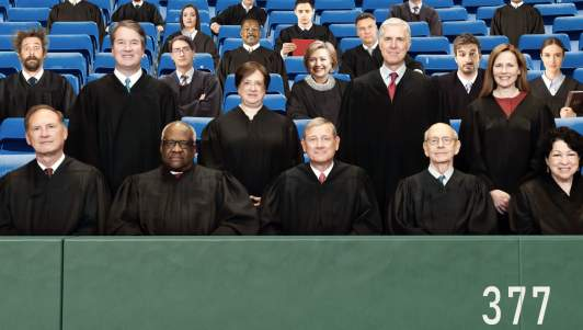 Supreme Court To Be Moved To 41,000-Seat Baseball Stadium To Fit All The Justices Biden About To Nominate