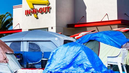 San Francisco Bans People From Eating At Unsanitary In-N-Out, Must Eat On Poop-Covered Sidewalk Instead
